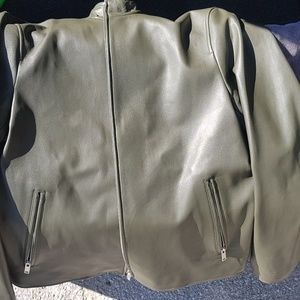 Theory mens leather jacket